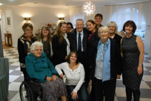 QEP resident Frank had a surprise visit to Bridge House for his milestone birthday.