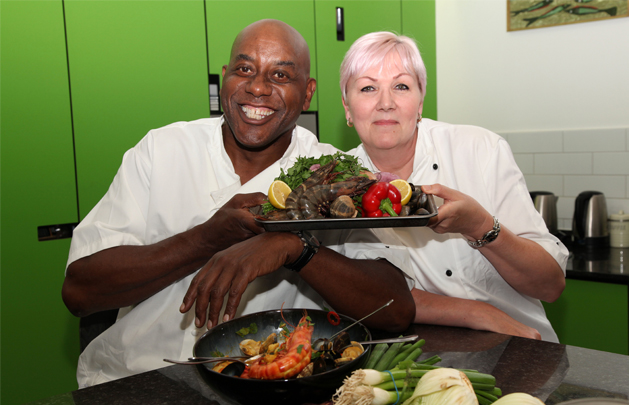 Ainsley Harriott with QEP Chef